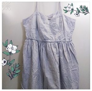 Striped Dress with Lining